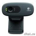960-001063 Logitech HD Webcam C270, USB 2.0, 1280*720, 3Mpix foto, Mic, Black  [Гарантия: 2 года]