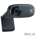 960-001065 Logitech HD Webcam C310, USB 2.0, 1280*720, 5Mpix foto, Mic, Black  [Гарантия: 2 года]