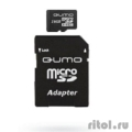 Micro SecureDigital 16Gb QUMO QM16(G)MICSDHC10 {MicroSDHC Class 10, SD adapter}  [Гарантия: 3 года]