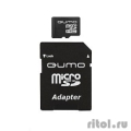 Micro SecureDigital 8Gb QUMO QM8GMICSDHC10 {MicroSDHC Class 10, SD adapter}  [Гарантия: 3 года]