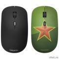 CANYON CND-CMSW400S {wireless Optical  Mouse with 4 buttons, DPI 800/1200/1600, 1 additional cover(Red Star), black, 103*58*32mm, 0.087kg, 2.4GHz}  [Гарантия: 2 года]